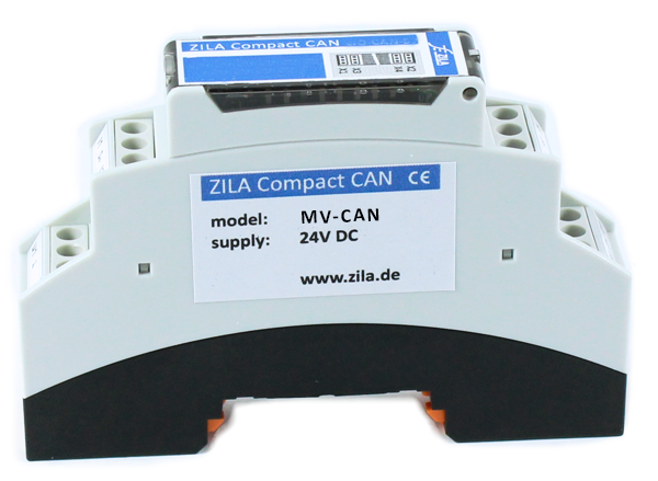 DIN rail module transmitter for CANopen bus