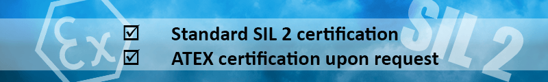 SIL2 and ATEX certification