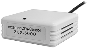 Standalone CO2 Sensor ZCS-5000 in white platic housing