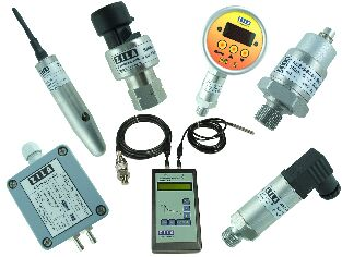 different types of pressure transmitters in various housing
