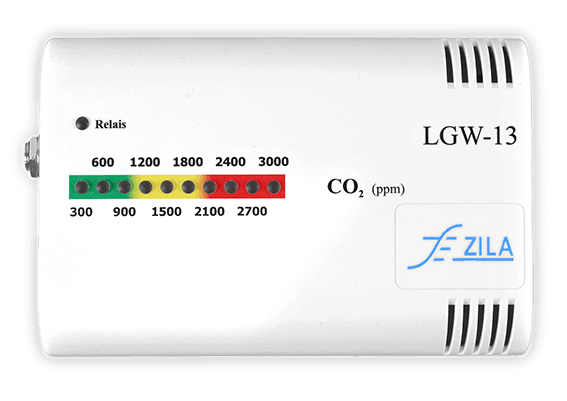 Air quality guard LGW13 Co2 sensor with bar graph LED display for air quality visualization