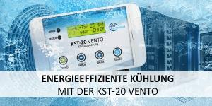 Energie-effiziente Kühlung von Elektroräumen mit der Klimasteuerung KST-20 Vento