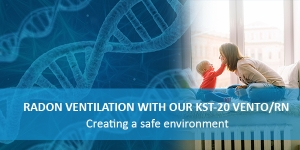 Radon ventilation with our KST-20 Vento/RN