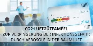 CO2-Luftgüteampel zur Verringerung der Infektionsgefahr durch Aerosole in der Raumluft