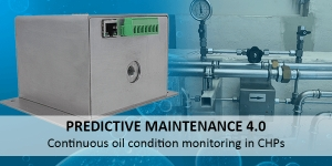 Predictive Maintenance 4.0 - Continuous oil condition monitoring on the example of two CHPs