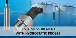 Level measurement in open containers with our hydrostatic probes