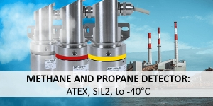 Gas detectors for monitoring the methane and propane concentration