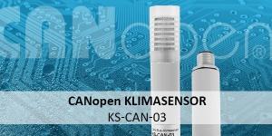CANopen Klimasensor KS-CAN-03: kombinierter Temperatur- und Feuchtesensor mit CAN Bus Signalausgang