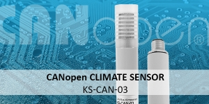 CANopen climate sensor KS-CAN-03: Combined temperature and humidity sensor with CAN bus signal output